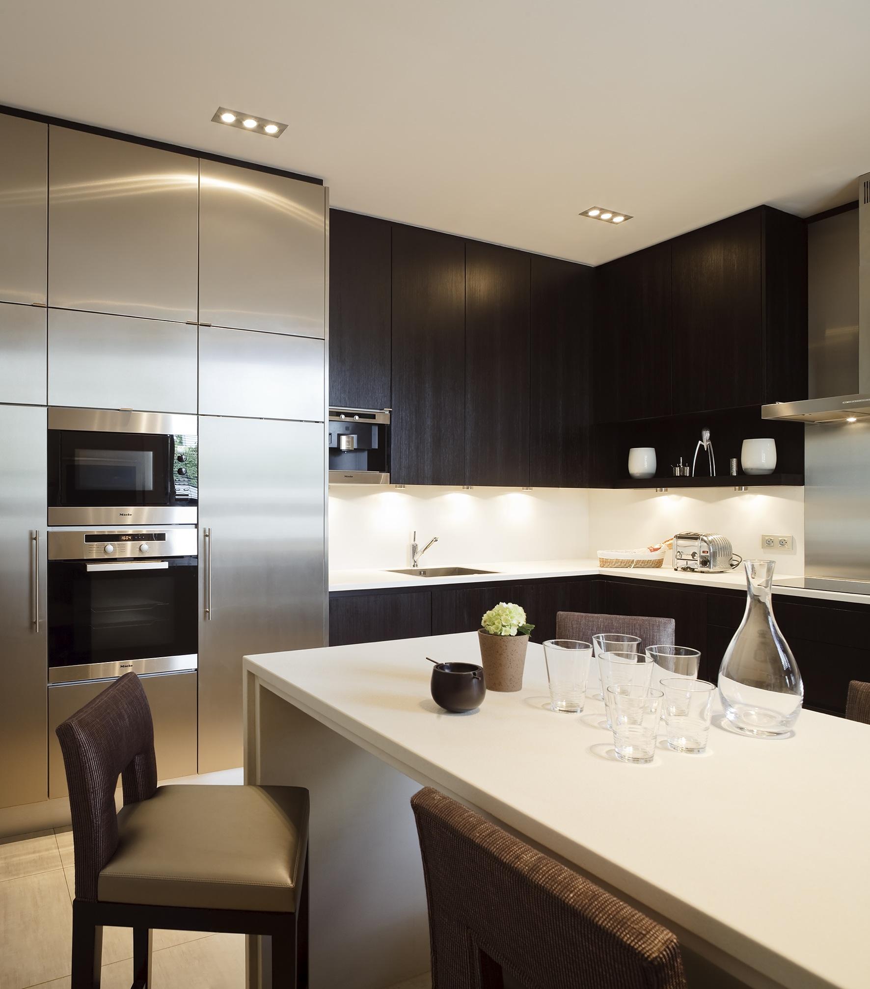 Cuisine. Création de l'agence d'architecture d'intérieur Olivier Berni Intérieurs.