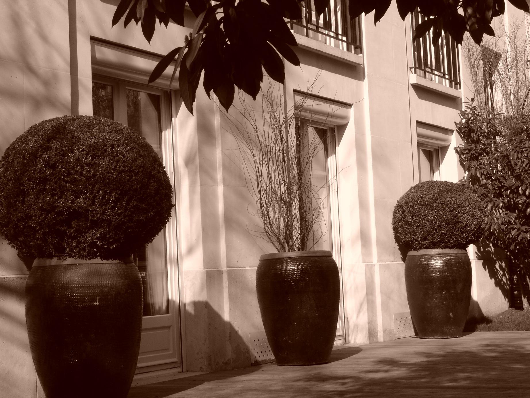 Terrasse. Réalisation de l'architecte d'intérieur Olivier Berni.
