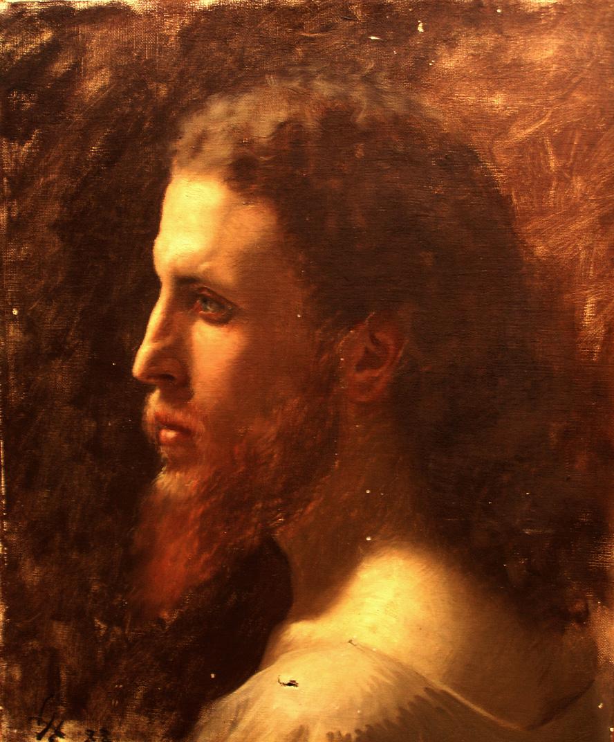 Huile sur toile. XIXe siècle. Collection Olivier Berni Intérieurs