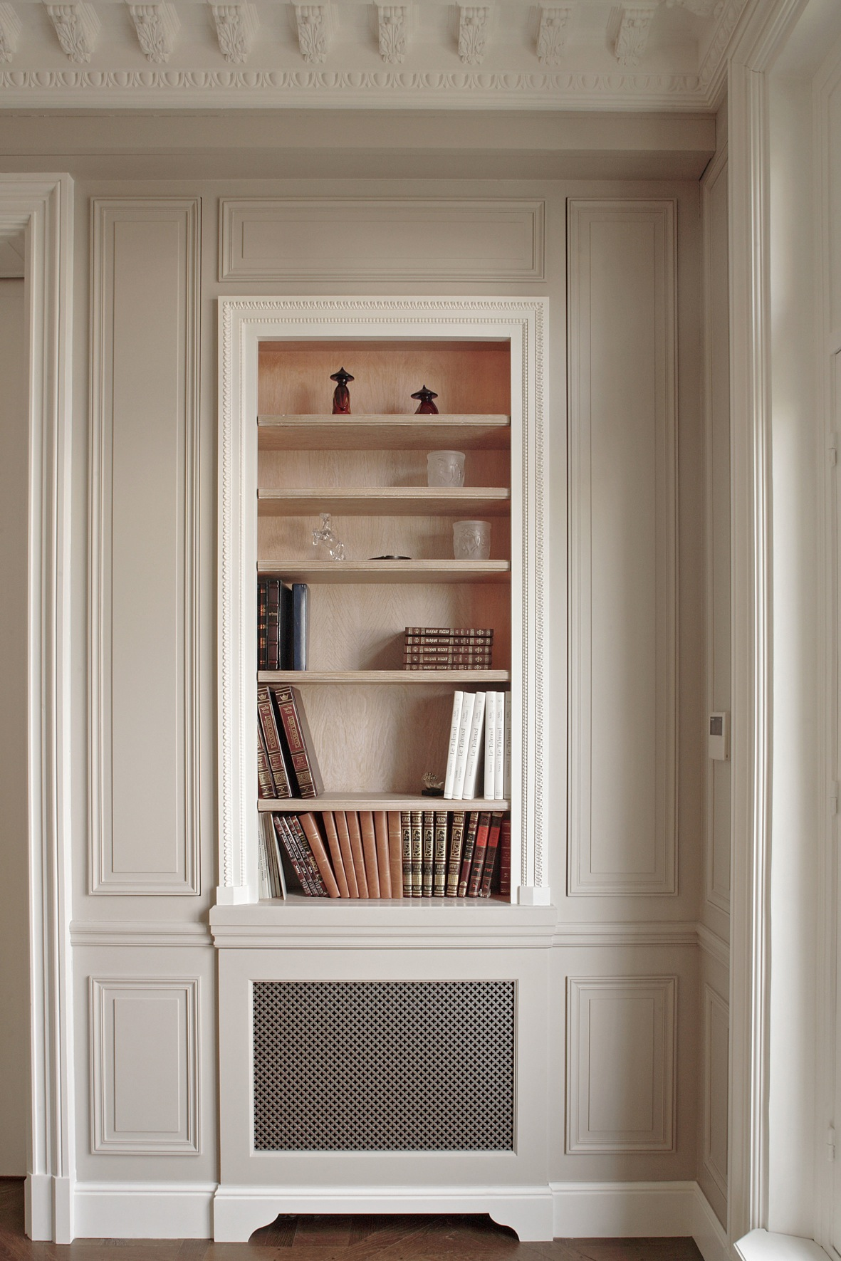Bibliothèque. Réalisation de l'architecte d'intérieur Olivier Berni.