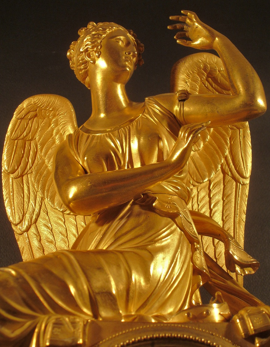 Horloge (détail vu de face)). Début XIXe siècle. Catalogue Olivier Berni Intérieurs