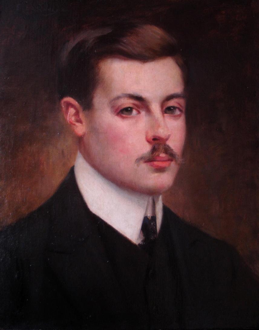 Huile sur toile. Vers 1900. Collection Olivier Berni Intérieurs