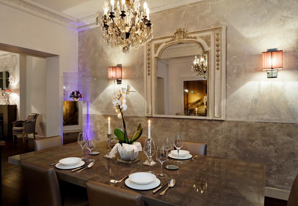 Salle-à-manger. Création de l'agence d'architecture d'intérieur Olivier Berni Intérieurs.