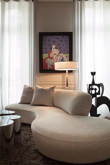 Grand salon. Création de l'agence d'architecture d'intérieur Olivier Berni Intérieurs.
