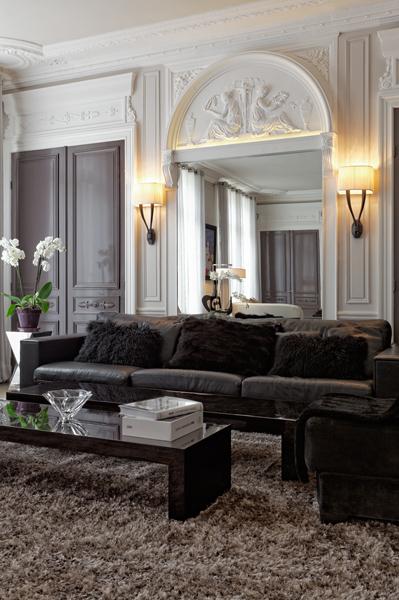 Grand salon. Réalisation de l'architecte d'intérieur Olivier Berni.