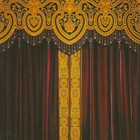 Lambrequin ouvragé avec passementerie pour intérieur de style Napoléon III. Lesage