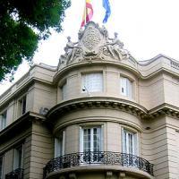 facade de l'ambassade d'Espagne à Paris