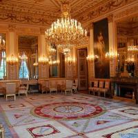 salon des Quatre Saisons avec toiles dans style de Prud'hon et mobilier Bellangé, ambassade d'allemagne