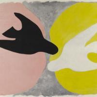 Georges Braque, L'Oiseau noir et l'oiseau blanc, 1960, exposition au grand palais Paris