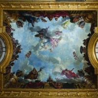 Restauration décor peint salon Abondance Château de Versailles